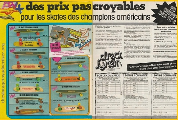 France. Pif Gadget 496. 1978. American skateboards direct from the US.
