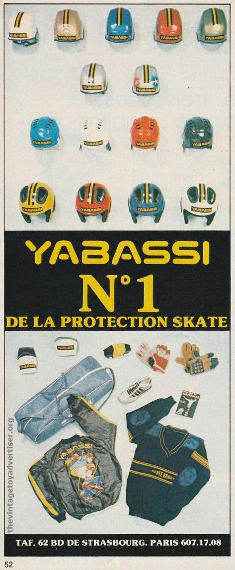 France. Pif Gadget 476. 1978. Yabassi skate wear.