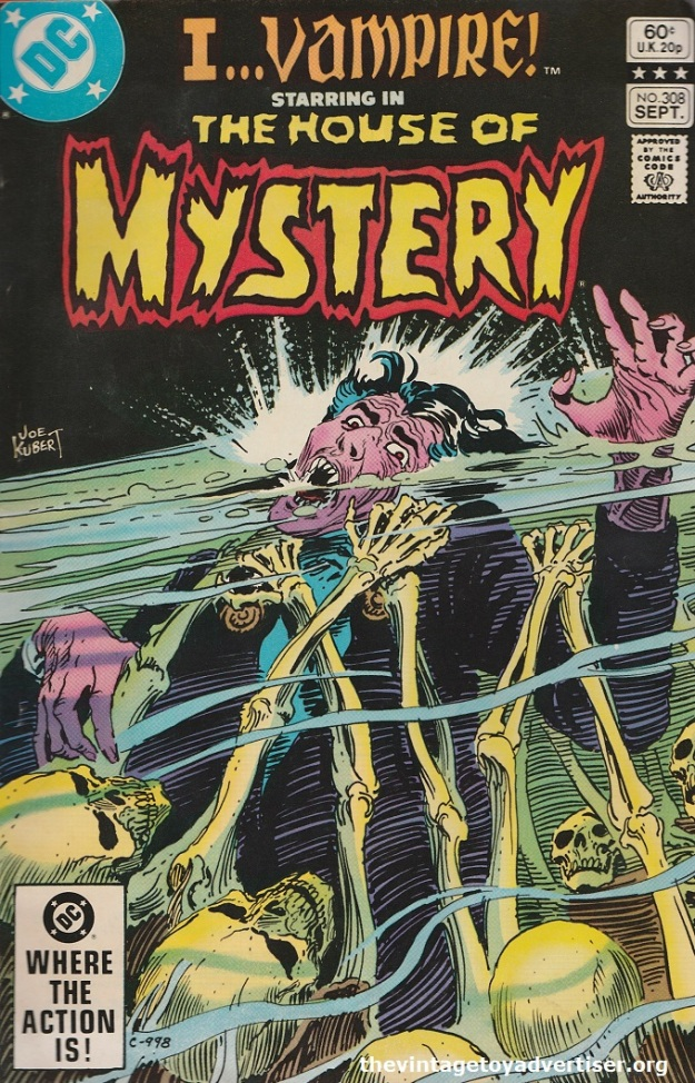 US. House of Mystery. Cover by Joe Kubert. 1982.