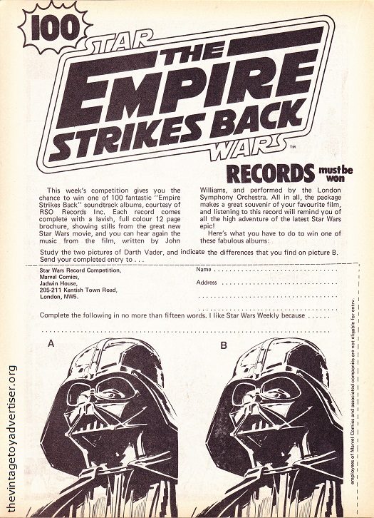 UK. The Empire Strikes Back Weekly. 1980.