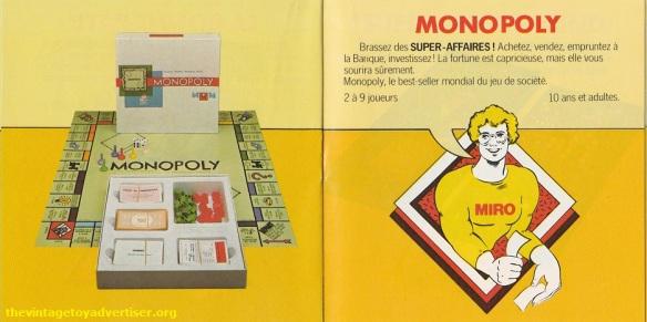 Monopoly. 1979 Miro-Meccano catalogue page.