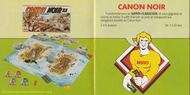 Canon Noir. 1979 Miro-Meccano catalogue page.