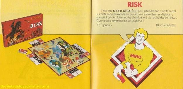 Risk. 1979 Miro-Meccano catalogue page.