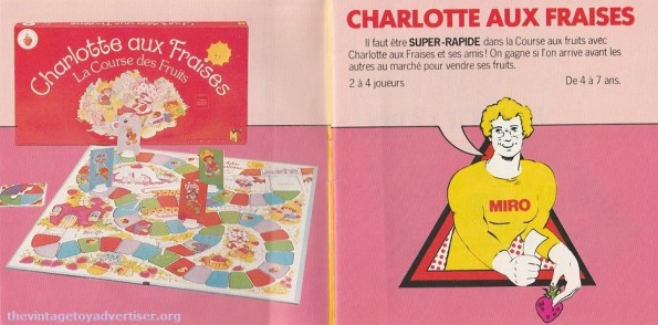 Strawberry Shortcake. 1979 Miro-Meccano catalogue page.