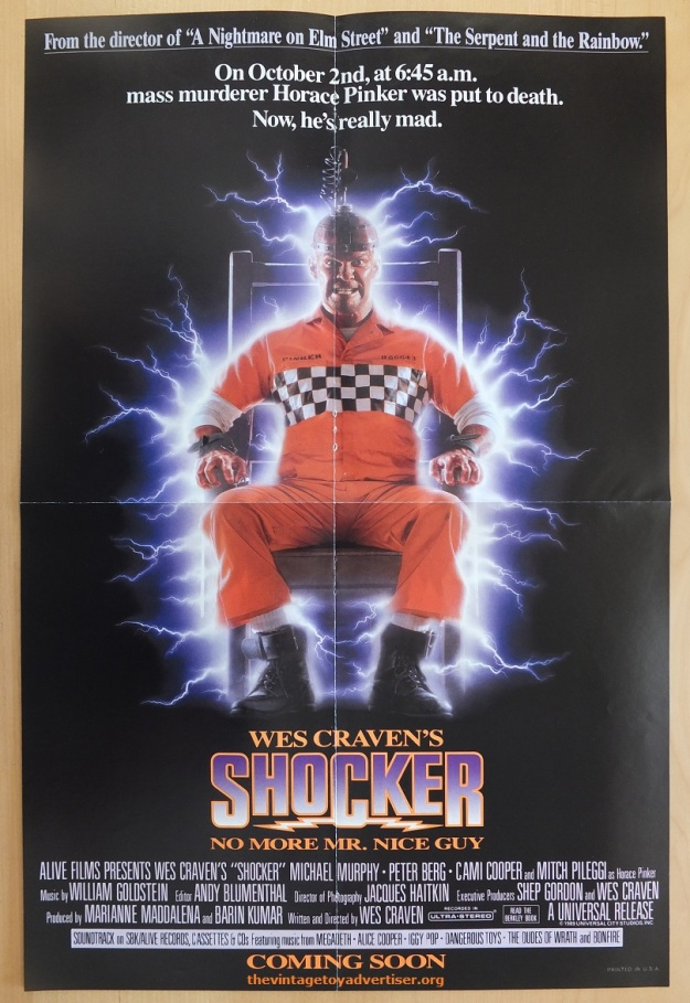 Shocker poster from The Phantom comic 1989. US.
