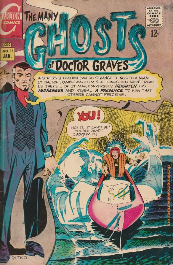 US. The Many Ghosts of Doctor Graves. Cover by Steve Dikto. 1969.