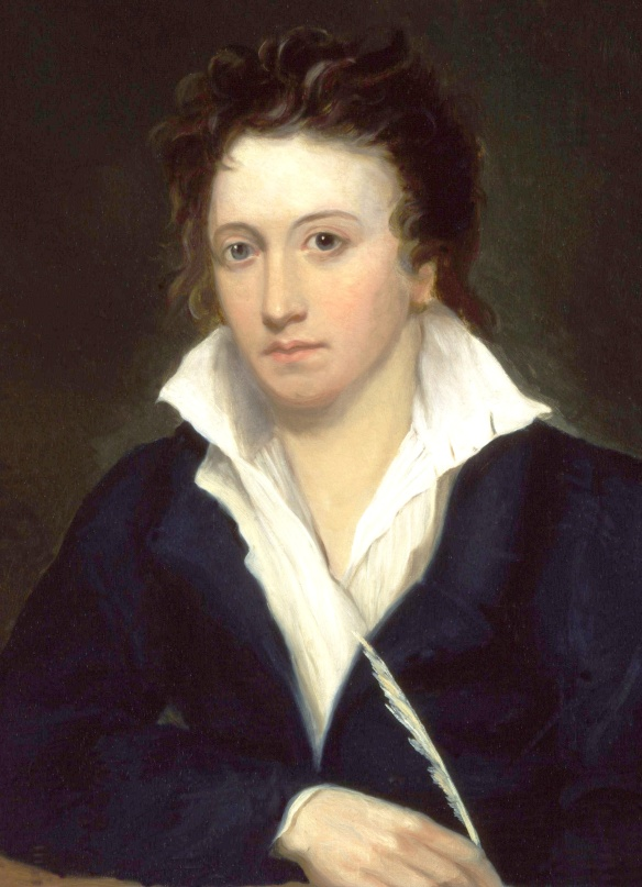 Percy Bysshe Shelley. Portrait by Alfred Clint.