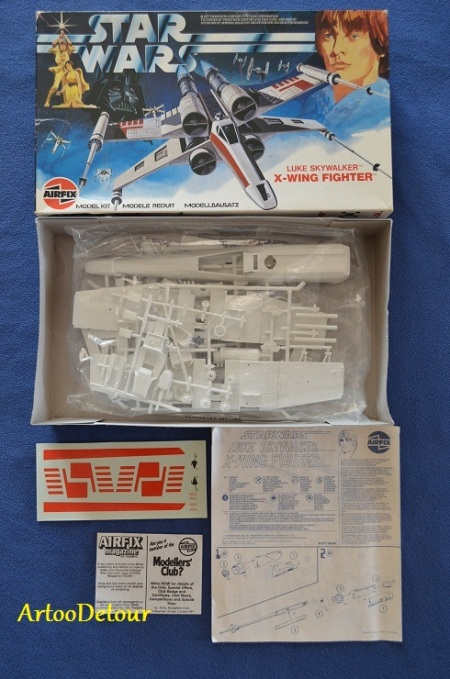 Airfix X-Wing Fighter model kit, UK