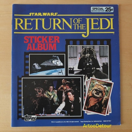 Topps Return of the Jedi sticker album