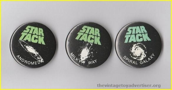 UK. Star Tack bootleg badges.