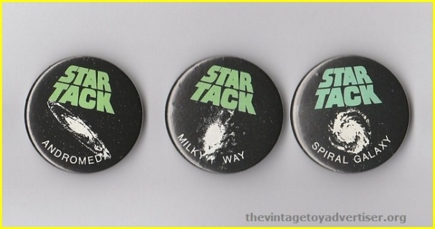 UK. Star Tack bootleg badges.