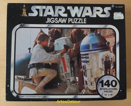 Luke meets R2-D2 Star Wars black box 140 piece jigsaw puzzle