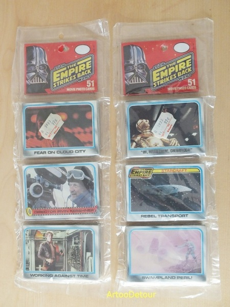 Topps Empire Strikes Back movie photo cards