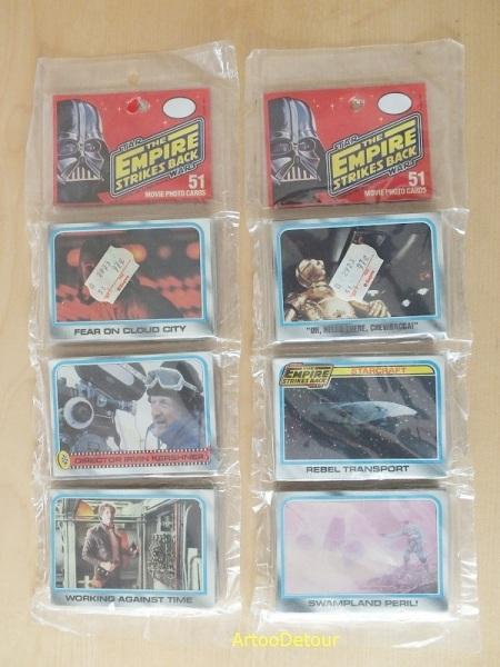 Topps Empire Strikes Back movie photo cards