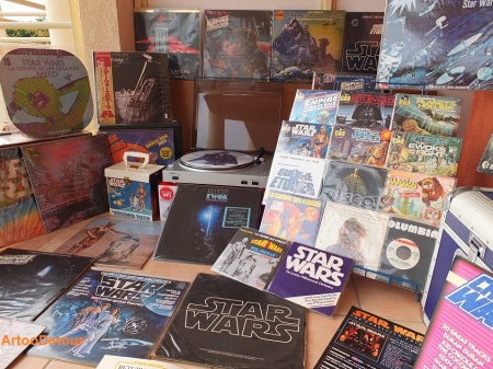 Vintage Star Wars vinyl records from around the world