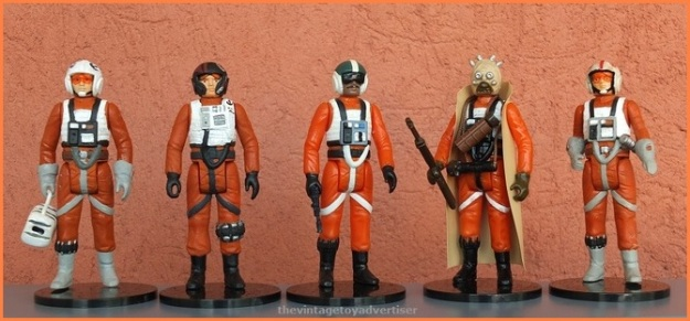 The usual suspects. Personnel from X-Wing Fighters and Snowspeeder vehicles.