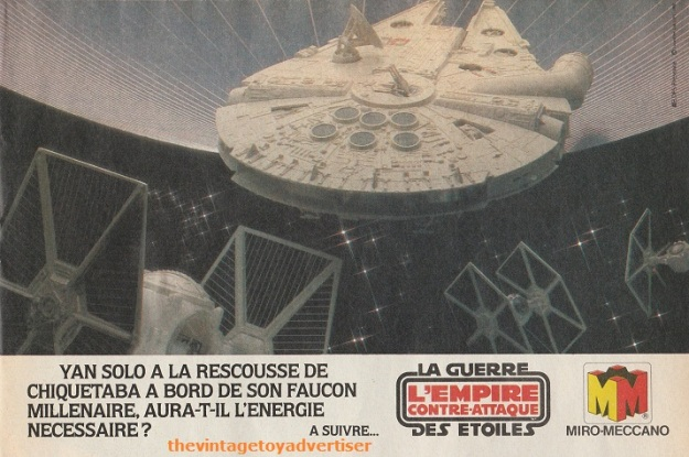 """Han Solo to rescue Chewbacca aboard his Millenium Falcon, will it have enough energy left?"" Pif Gadget. 644. 1981."
