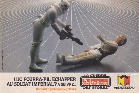 """""""Will Like be able to escape from the Imperial Stormtrooper?"""" Pif Gadget 638. 1981."""