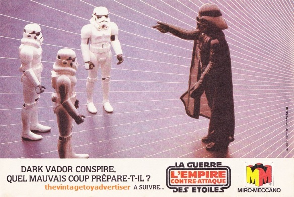 """Darth Vader conspires, what bad move is he making?"" Pif Gadget. 652. 1981."