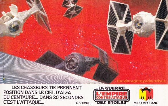 """The TIE Fighters take position in the sky of Alpha Centauri... in 20 seconds, it's the attack."" Pif Gadget. 662. 1981."