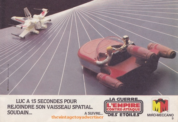 """Luke still has 4 seconds, if the electronics don't fail him..."" Pif Gadget. 664. 1981."