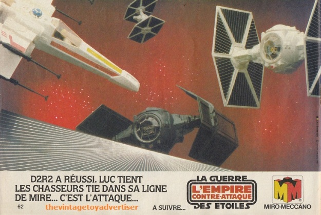 """R2-D2 did it. Luke locks the TIE Fighters in line of fire... It's the attack..."" Pif Gadget. 668. 1982."