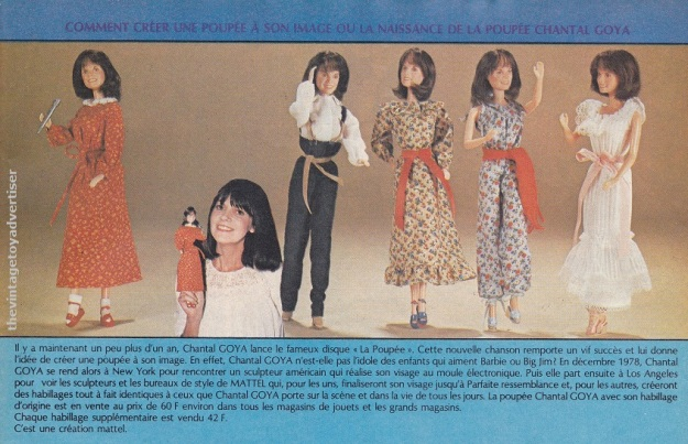 France. Pif Gadget. 1979. Mattel created this special doll and accessories after French singer Chantal Goya.