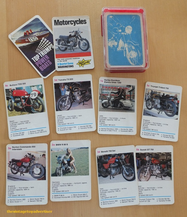 Vintage Top Trumps. 1970s Motorcycles pack.