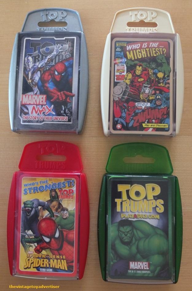 Modern packs: Marvel Comics characters.
