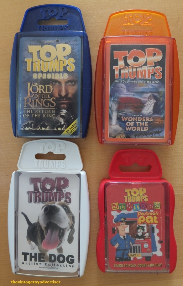 Modern packs: The Lord of the Rings, Wonders of the World, The Dog, Postman Pat Juniors edition.