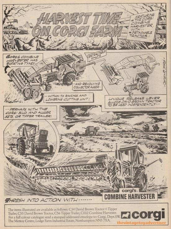 Corgi Harvest Time. Die cast farm vehicles. UK. Star Wars Weekly. 1978.