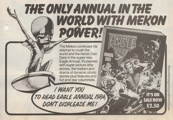 Advert for the 1984 Eagle annual. Eagle. 1983.
