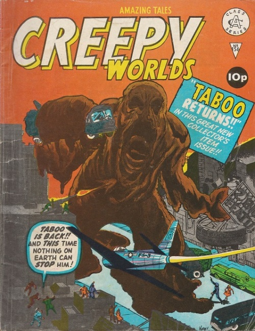 UK. Creepy Worlds N°156. Cover by Kirby and Ayers.