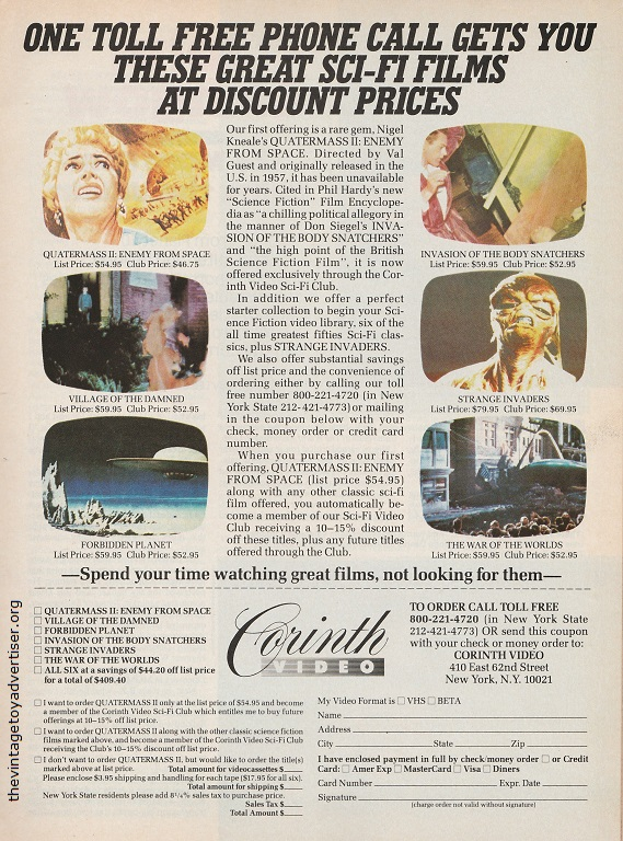 US. Starlog. 1985.