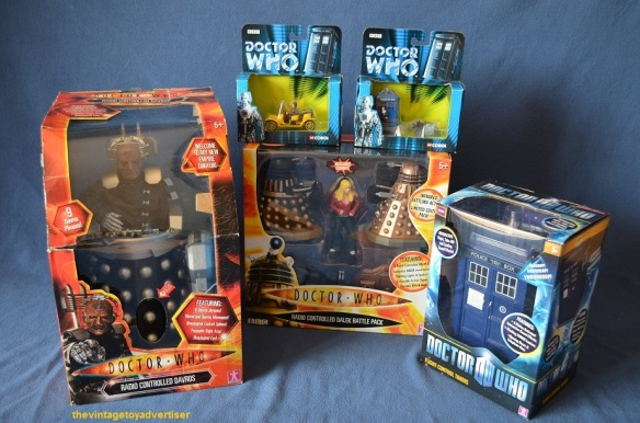 Radio Controlled Davros. Corgi Bessie/Tardis/K9. Radio Controlled Dalek Battle Pack. Flight Control Tardis.