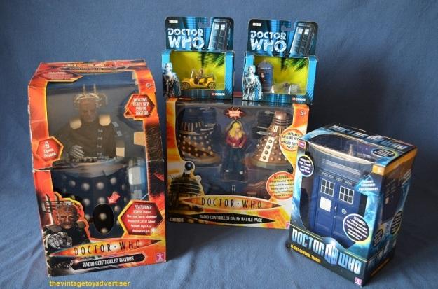 Radio Controlled Davros. Corgi Bessie/Tardis/K9. Radio Controlled Dalek Battle Pack. Flight Control Tardis.