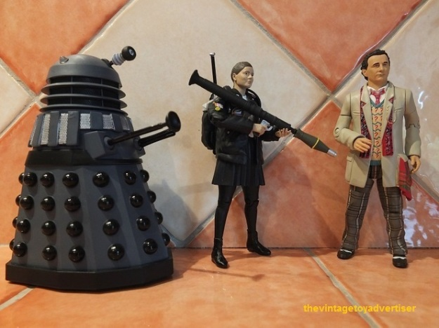 Dalek, Ace and the seventh Doctor (from Remembrance of the Daleks).