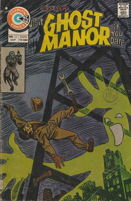US. Charlton Comics. Ghost Manor. 1975. Cover by Steve Ditko.