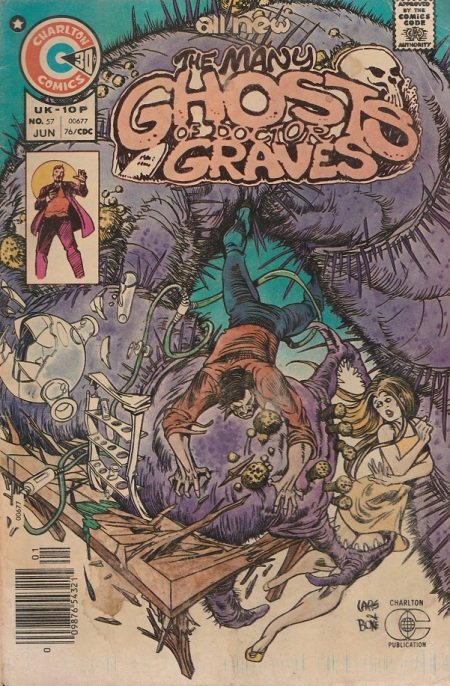US. Charlton Comics. The Many Ghosts of Doctor Graves. 1976. Cover by Rich Larson and Tim Boxell.