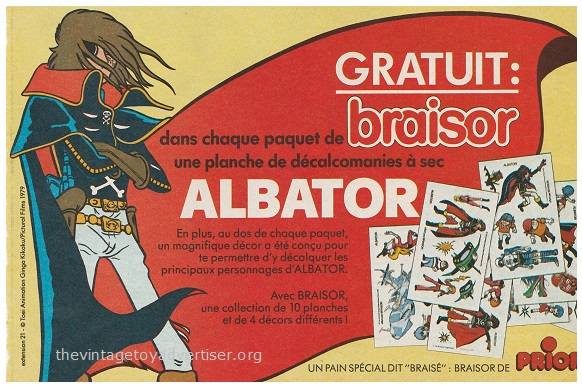 France. Pif Gadget. 1979. Albator transfers Braisor food promotion.