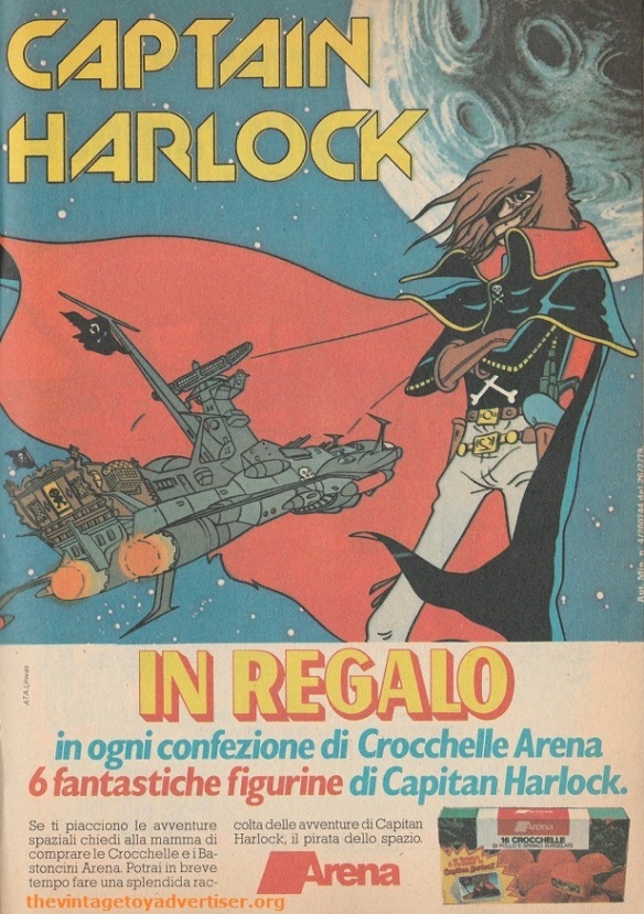 Brazil. Topolino. 1979. Captain Harlock figurines food promotion.