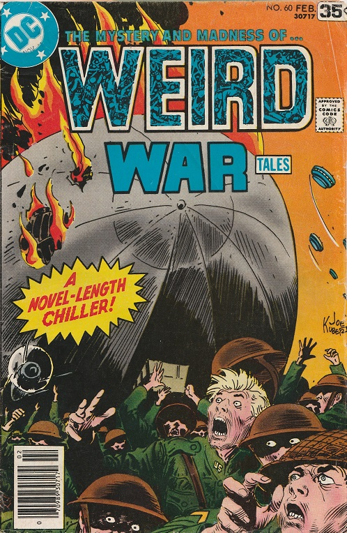 Weird War Tales N° 60. 1978. Cover by Joe Kubert.