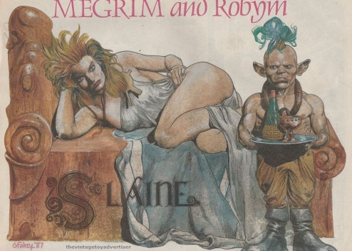 Megrim and Robyn. Cover by Glenn Fabry. Prog 524. 1987.