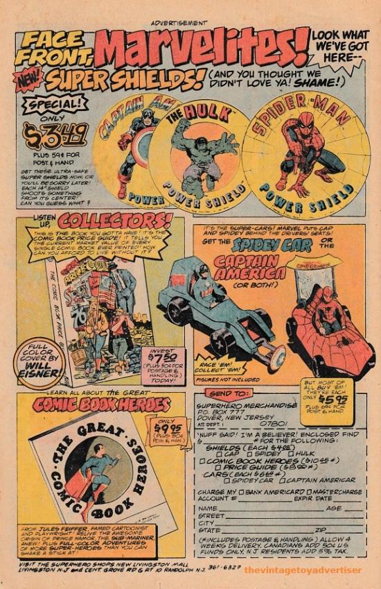 superhero merchandise 1970s