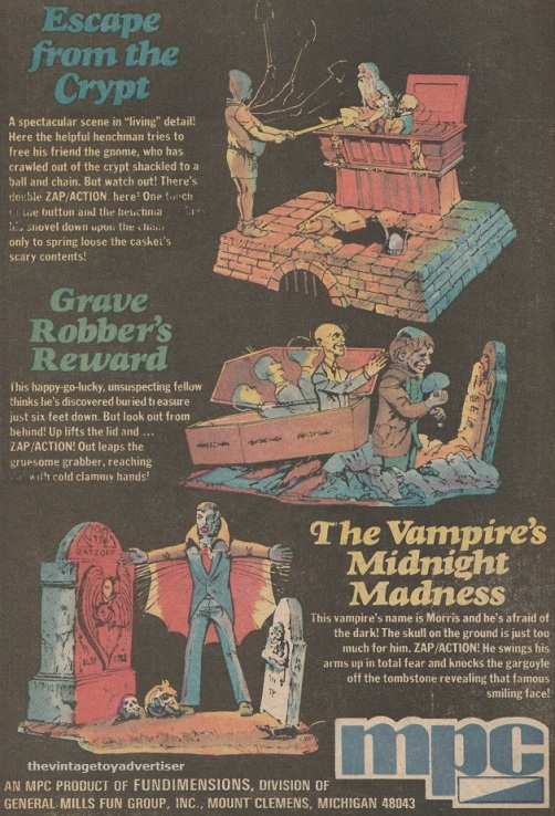 Page 2 of double page Disney's Haunted Mansion by MPC. 1974. Weird War Tales. US.