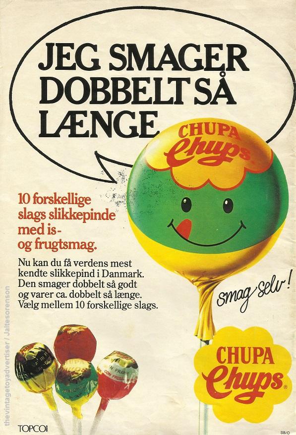 nontoy ad tuesday dali�s chupa chups the vintage toy