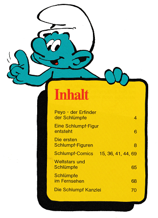 Smurfs Schleich catalogue 1986 inhalt 01