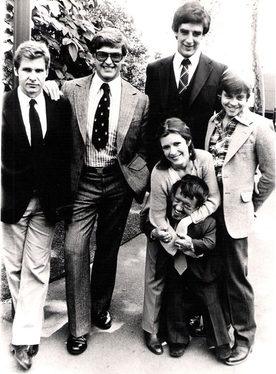 Peter Mayhew and members of the Star Wars cast.